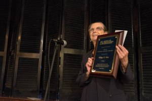 Wilma Wirt accepts the George Mason Award in Richmond on Sept. 9.