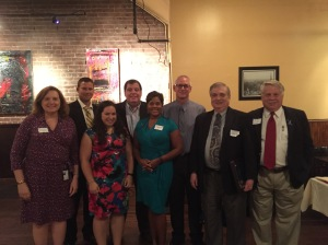 The board members who attended Thursday were (from left) Caroline Cardwell, Shawn Day, Robyn Sidersky, Greg Gilligan, Nicole Livas, Jeff South, Wayne Farrar, and Peter Vieth.