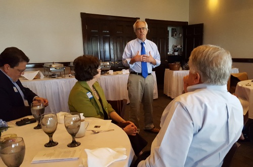 Dave Ress speaks during the George Mason Award Brunch.